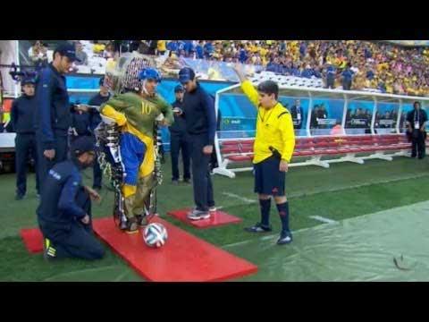 AMAZING: Paraplegic in Robotic Exoskeleton Makes First Kick in World Cup