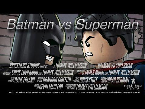 Batman vs Superman – LEGO STYLE from BrickNerd