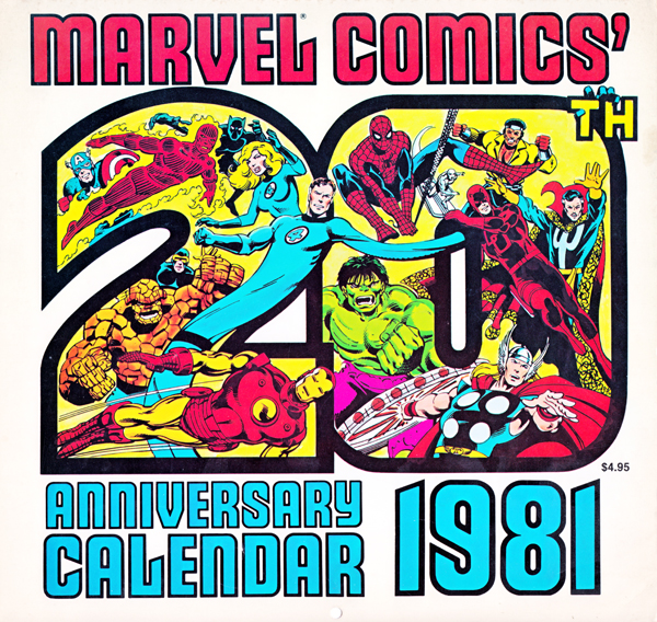 1981 Marvel Calendar Lines Up Perfectly with 2015!