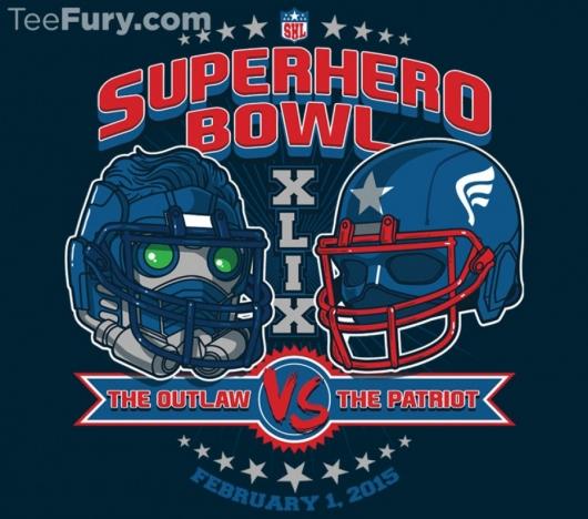 SuperHero Bowl 2015 Star-Lord VS. Captain America T-shirts!