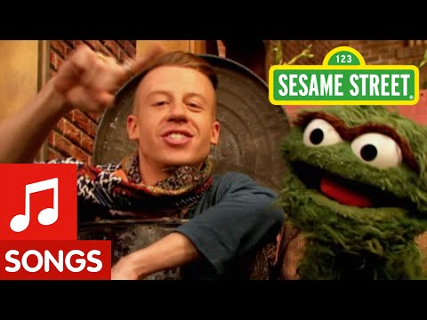 Macklemore and Oscar the Grouch Go Rubbish Shopping On Sesame Street