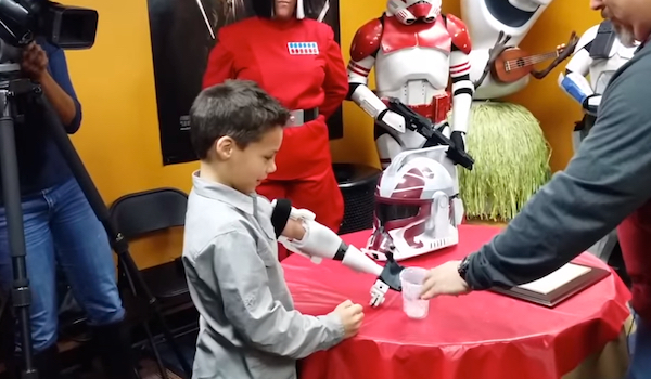 Young Boy Receives A 3-D Printed Star Wars Prosthetic Arm.
