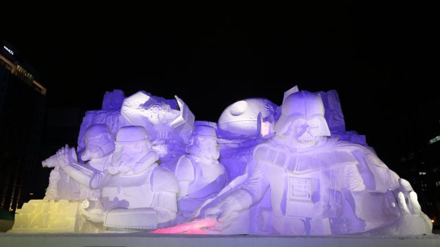 Japanese Military Have Built A Giant Star Wars Snow Sculpture!