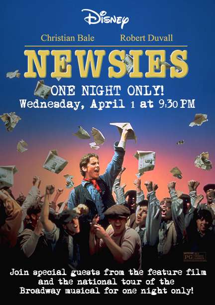 Los Angeles and So Cal! Newsies Coming To El Capitan For One Night Only!