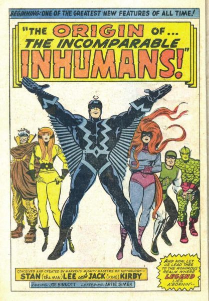 jack kirby stan lee. inhumans. p001