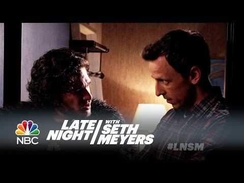 Watch Jon Snow Be a Terrible Dinner Guest on Late Night with Seth Meyers!