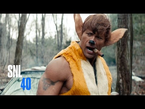 Watch SNL's Hilarious Live-Action Bambi Starring The Rock!
