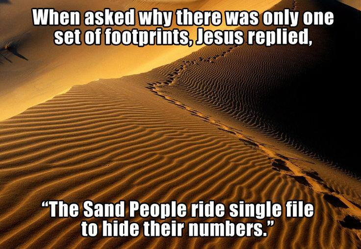 Today's Giggle! Footprints Poem – STAR WARS STYLE!