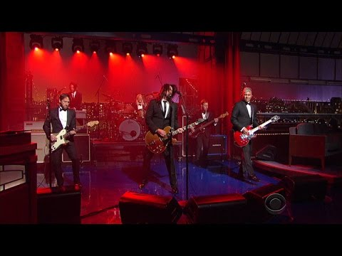 Foo Fighters And David Letterman Over The Years.