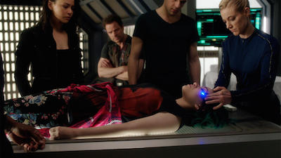 Syfy's Dark Matter Season 1, Episode 6 Wee-Cap