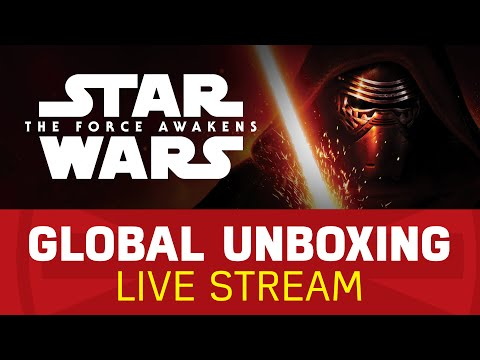 Watch Star Wars: The Force Awaken Force Friday's Global Unboxing Live Stream!