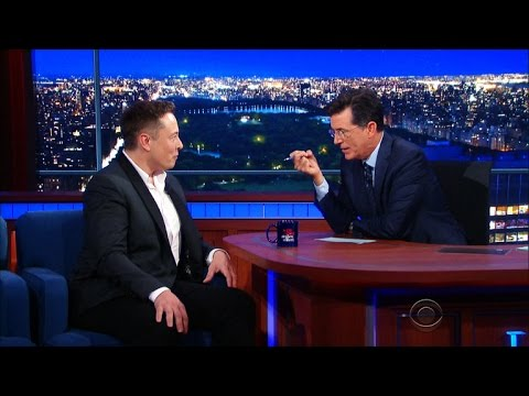 Elon Musk Talks About Making Mars Habitable On The Late Show With Stephen Colbert