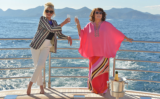 Here Are Your First images From The Absolutely Fabulous Set!