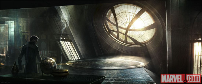 FIRST LOOK AT THE ACTUAL WINDOW OF THE WORLDS IN DOCTOR STRANGE!