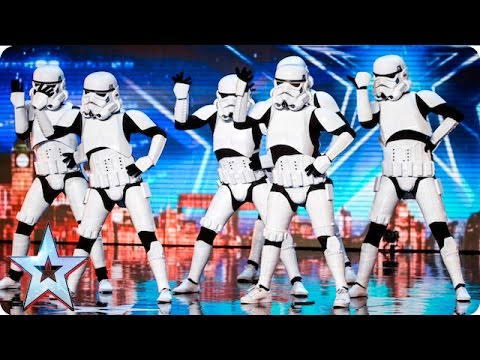 Dancing Stormtroopers Put A Smile On Simon Cowell's Face!