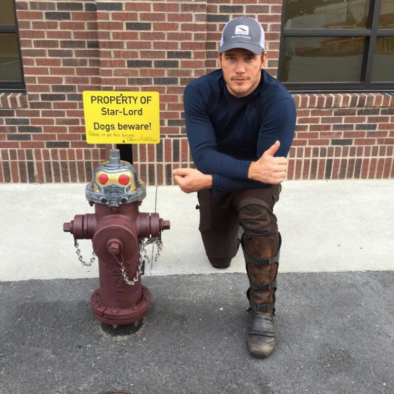 Chris Pratt Posts Some BTS Pics of Him and His Stunt Double for Guardians of the Galaxy, Vol. 2