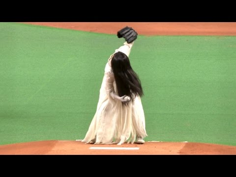 The Ring Vs The Grudge Throw The First Pitch!