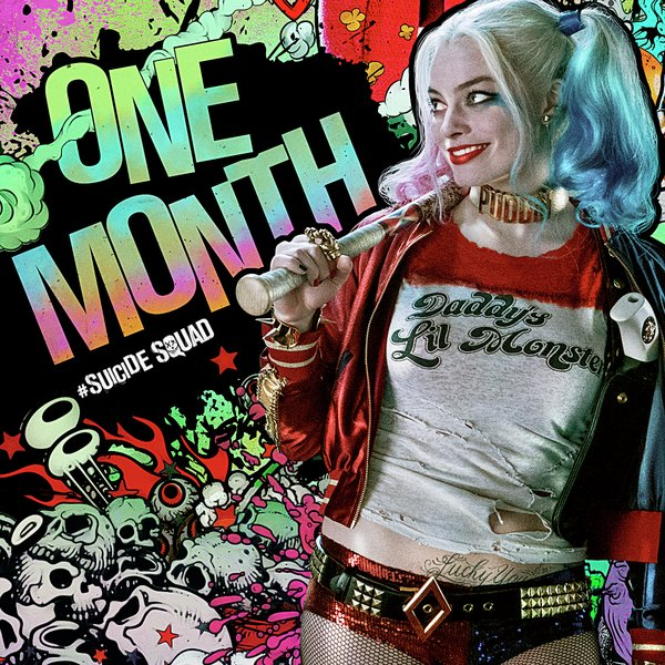 Suicide Squad Is Only One Month Away in this Harley Quinn Poster!