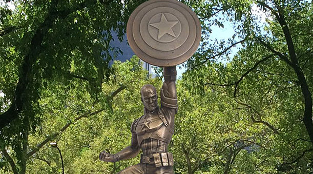 Captain America Turns 75 This Year And Marvel Celebrated with a Giant Bronze Statue!