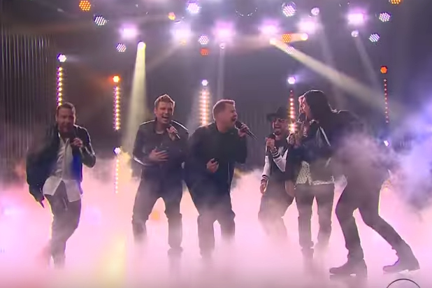 James Corden Performs With The Backstreet Boys!