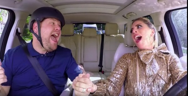 Lady GaGa Joins James Corden IN Carpool Karaoke!