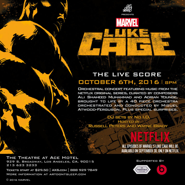 Love the music in Luke Cage? Experience it live in L.A.!