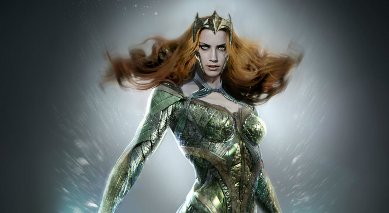 Our First Look at AMBER HEARD as MERA in JUSTICE LEAGUE!