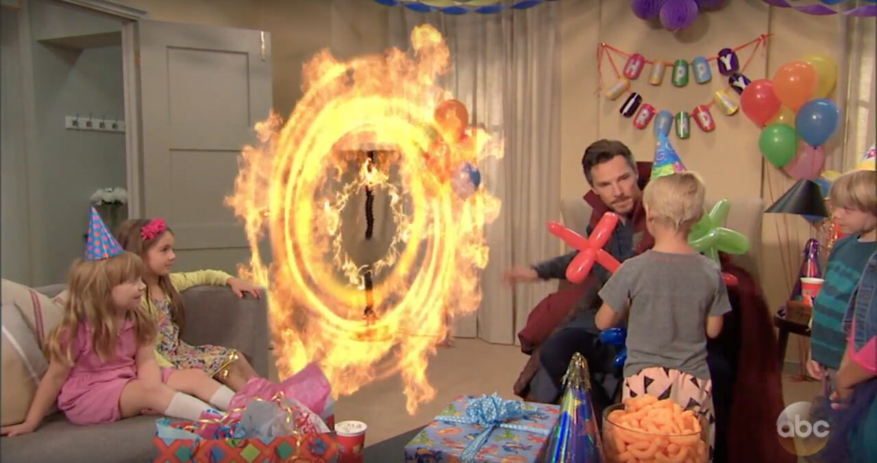 Jimmy Kimmel Hires Doctor Strange for Kid's Birthday Party