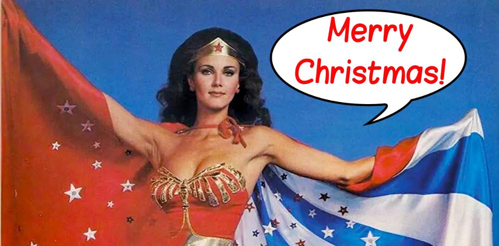 A (Lynda Carter) Wonder Woman – Themed Christmas Tree? Hera, yes!