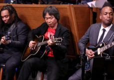 THE TONIGHT SHOW STARRING JIMMY FALLON -- Episode 0586 -- Pictured: Video game designer Shigeru Miyamoto sits in with The Roots on December 07, 2016 -- (Photo by: Andrew Lipovsky/NBC)