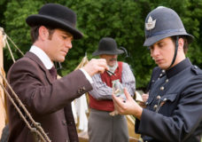 Yannick Bisson and Jonny Harris in Murdoch Mysteries