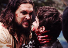 Jason Mom and Landon Liboiron in Frontier.