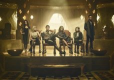 THE MAGICIANS -- Season:2 -- Pictured: (l-r) Stella Maeve as Julia, Olivia Taylor Dudley as Alice, Hale Appleman as Eliot, Summer Bishil as Margo, Jason Ralph as Quentin, Arjun Gupta as Penny -- (Photo by: Jason Bell/Syfy)