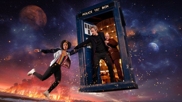WARNING: Embargoed for publication until 15:00:01 on 13/03/2017 - Programme Name: Doctor Who S10 - TX: 15/04/2017 - Episode: n/a (No. 1) - Picture Shows: ***EMBARGOED UNTIL 15:00hrs GMT 13th March 2017*** Bill (PEARL MACKIE), The Doctor (PETER CAPALDI), Nardole (MATT LUCAS) - (C) BBC/BBC Worldwide/Shutterstock - Photographer: Des Willie