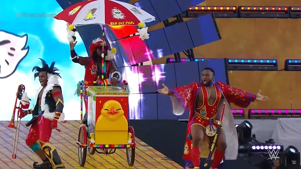 "WWE Superstars ""The New Day"" Dress as FINAL FANTASY XIV Characters at WrestleMania 33"