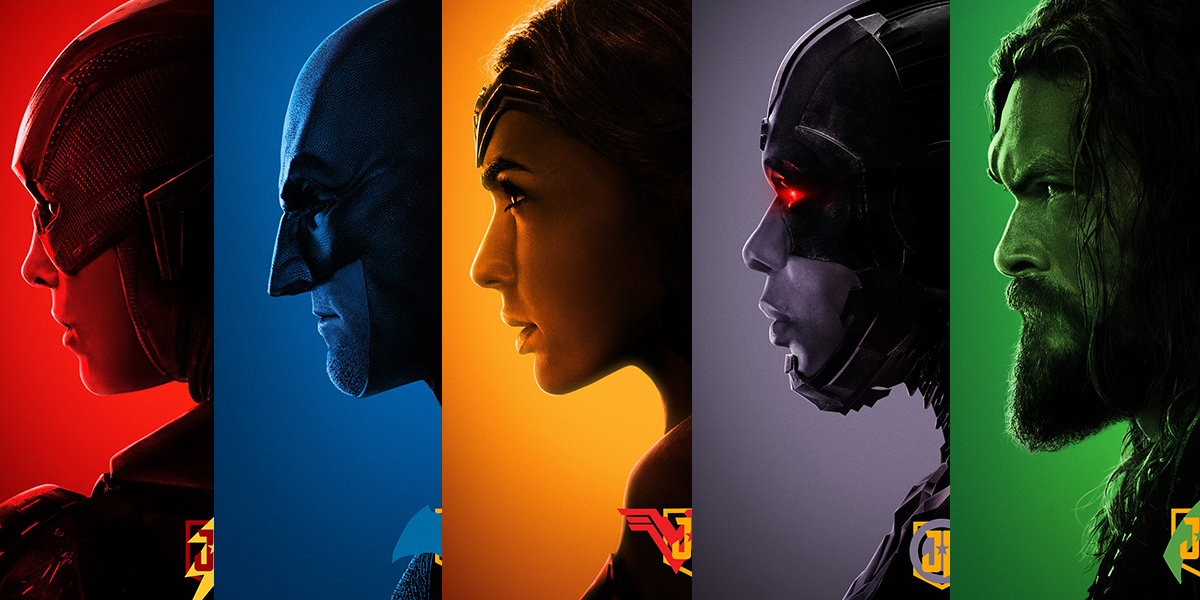 Colorful New JUSTICE LEAGUE Posters Show Off Heroes Profiles
