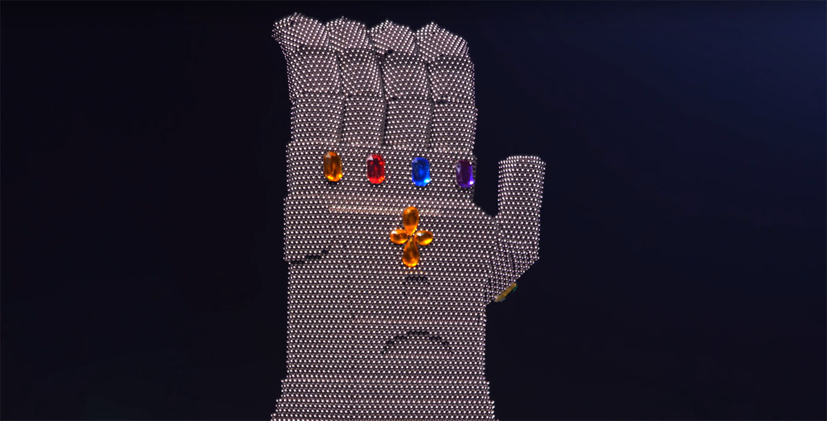 Check Out How This Fan Made the Infinity Gauntlet Out of Magnets