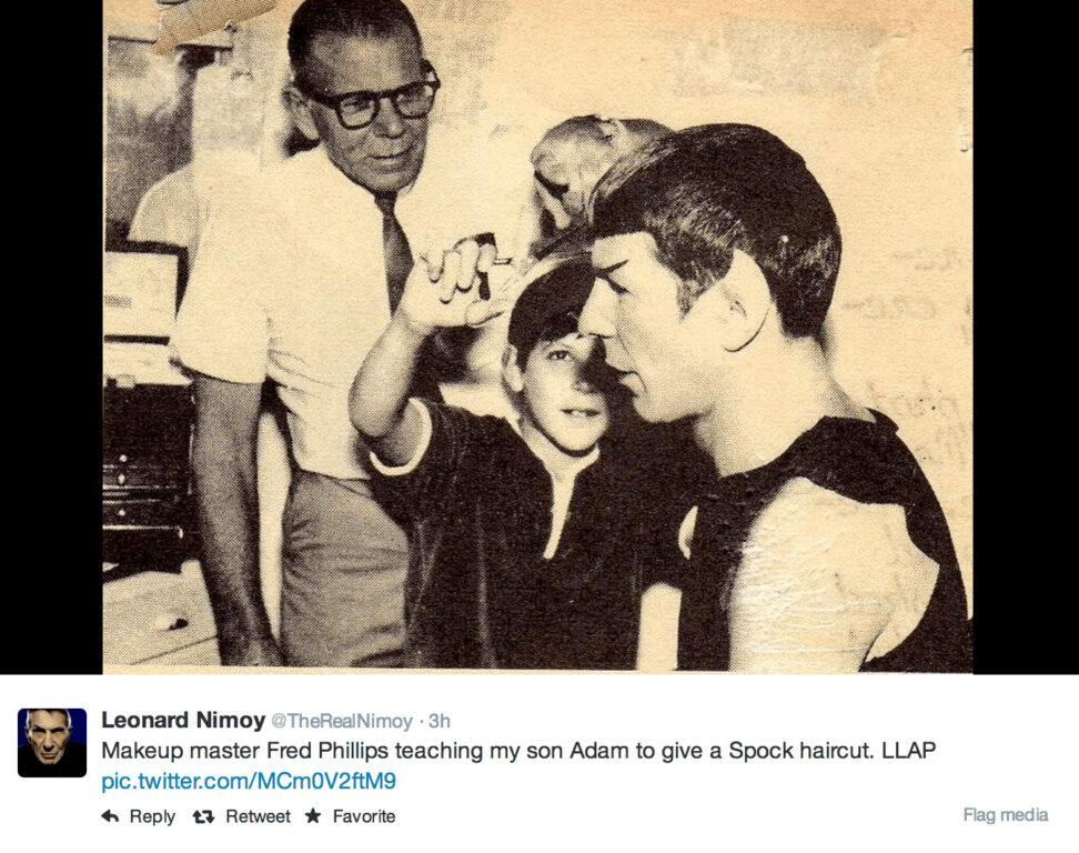 Spock Gets a Haircut – Leonard Nimoy Tweets