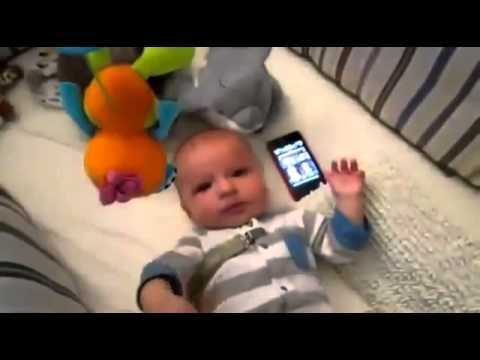 Crying Baby Soothed by Star Wars Theme Song