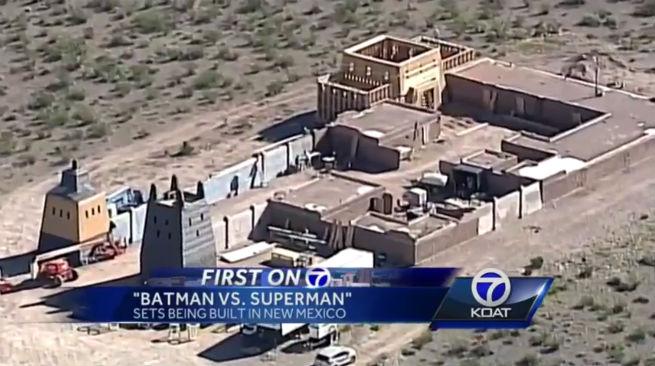 WEIRD BATMAN Vs SUPERMAN SET BUILT IN NEW MEXICO