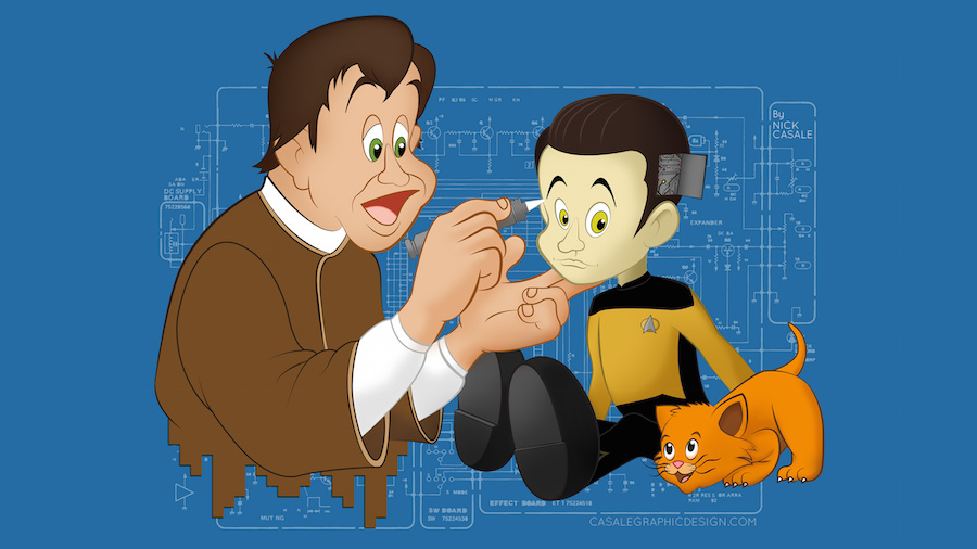 Star Trek and Disney Fans! Check Out This Awesome Data-Meets-Disney Wallpaper!