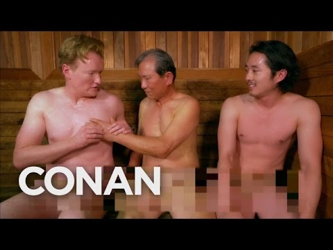 YOUR MONDAY GIGGLE: Conan O'Brien and The Walking Dead's Steven Yeun Visit A Korean Spa