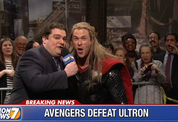 VICTORY OVER ULTRON DAY! Thor and Avengers Celebrate Defeating Ultron on SNL