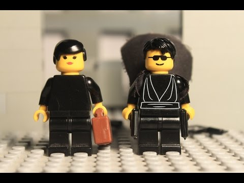Watch Lego Neo and Lego Trinity Blow Lego Guards Away in this Lego Remake of the Matrix Lobby Scene