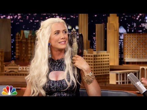 Jimmy Fallon Interviews Khaleesi Mother of Dragons (AKA Kristen Wiig) and It's Hilarious