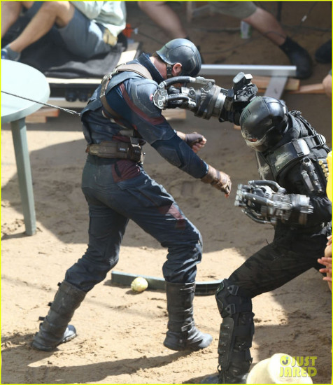 See Captain America fighting Crossbones in These New Pics from the Set of Civil War!