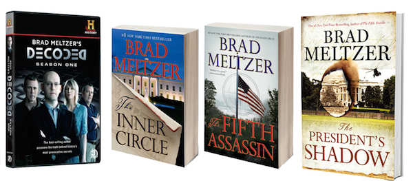 GIVEAWAY: Win Brad Meltzer's New Book THE PRESIDENT'S SHADOW, Season 1 of DECODED and a Visa Gift Card!