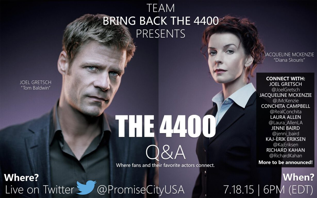 The 4400 Q&A Is Happening This Saturday!