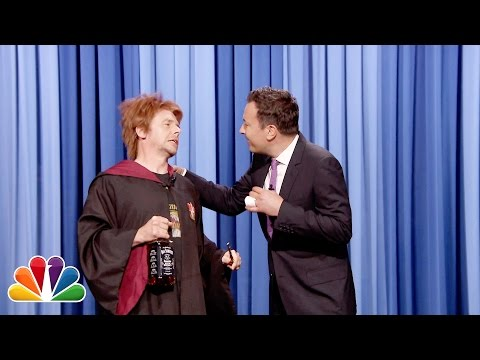 Drunk Weasley (Simon Pegg) Wishes Harry Potter a Happy Birthday on Jimmy Fallon