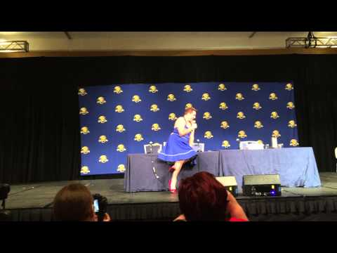 John Barrowman Delights In A Tardis Dress At Dragon Con!